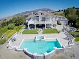 Aqua Dream swimming pool gallery pool in backyard of a mansion