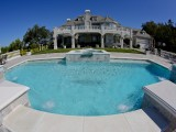 Aqua Dream swimming pool gallery fish eye view of pool and grounds