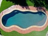 Aqua Dream swimming pool gallery overhead shot of freeform pool