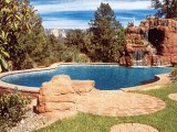 Aqua Dream swimming pool gallery pool with cave waterfall