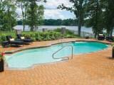 Aqua Dream swimming pool gallery free form pool overlooking lake