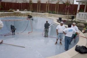 Swimming Pool Construction Process Interior Finish