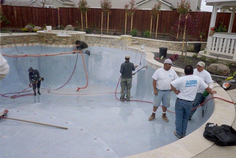Construction Process Interior Finish Aqua Dream Pools